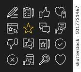 feedback line icons. modern... | Shutterstock .eps vector #1017731467