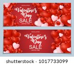 valentines day sale  discont... | Shutterstock . vector #1017733099