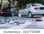 careless  drunk car driver hit... | Shutterstock . vector #1017733585