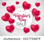 valentines day sale  discont... | Shutterstock . vector #1017733879