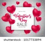 valentines day sale  discont... | Shutterstock . vector #1017733894