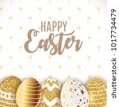 happy easter cute background... | Shutterstock . vector #1017734479