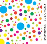 colorful bubble pattern vector | Shutterstock .eps vector #1017740215