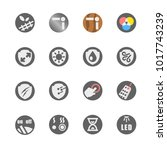 glyph icon set of furniture and ... | Shutterstock .eps vector #1017743239