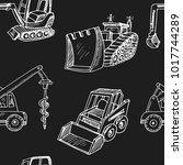 construction car hand drawn... | Shutterstock .eps vector #1017744289