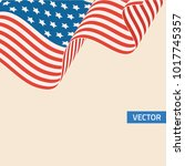 american flag symbol in retro... | Shutterstock .eps vector #1017745357