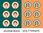 user avatar collection of man... | Shutterstock .eps vector #1017749695