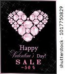 sale happy valentine's day with ... | Shutterstock .eps vector #1017750829