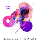 fluid color background. liquid... | Shutterstock .eps vector #1017753664