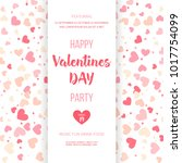 happy valentines day party... | Shutterstock .eps vector #1017754099
