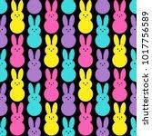 cute easter seamless pattern... | Shutterstock . vector #1017756589