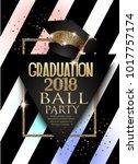 graduation 2018 party... | Shutterstock .eps vector #1017757174