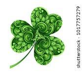 decorative clover leaf talisman....   Shutterstock .eps vector #1017757279