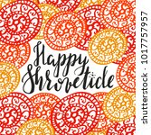 hand writen lettering happy... | Shutterstock .eps vector #1017757957
