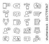 feedback line icon set.... | Shutterstock .eps vector #1017759367