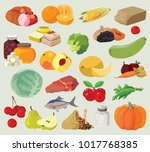 food. fruits  vegetables  fats  ... | Shutterstock .eps vector #1017768385