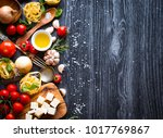 top view of all the necessary... | Shutterstock . vector #1017769867