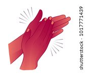 clapping hands or applauding.... | Shutterstock .eps vector #1017771439
