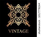 vintage golden logo template.... | Shutterstock .eps vector #1017778264
