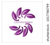 leaf vector logo design template | Shutterstock .eps vector #1017780799