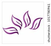 leaf vector logo design template | Shutterstock .eps vector #1017780961
