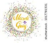 mardi gras calligraphic...   Shutterstock .eps vector #1017781531