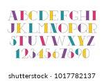 custom latin poster font with... | Shutterstock .eps vector #1017782137