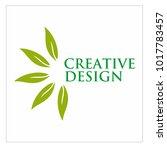 leaf vector logo design template | Shutterstock .eps vector #1017783457