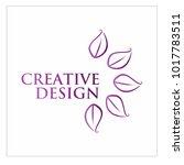 leaf vector logo design template | Shutterstock .eps vector #1017783511