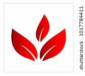 leaf vector logo design template | Shutterstock .eps vector #1017784411