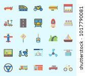 icons about transportation with ... | Shutterstock .eps vector #1017790081