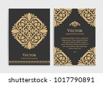 gold vintage greeting card on a ... | Shutterstock .eps vector #1017790891
