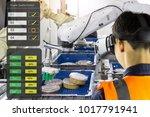industry 4.0 robot concept ... | Shutterstock . vector #1017791941