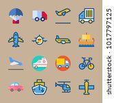 icons transport with delivery... | Shutterstock .eps vector #1017797125