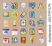 icons education and school with ... | Shutterstock .eps vector #1017797179