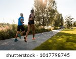 young multi ethnic joggers... | Shutterstock . vector #1017798745