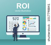 roi concept. return on... | Shutterstock .eps vector #1017798841