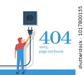 404 error  page not found.... | Shutterstock .eps vector #1017800155