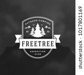 forest camping logo emblem...   Shutterstock .eps vector #1017801169