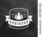 forest camping logo emblem... | Shutterstock .eps vector #1017801181