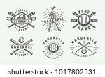 vintage baseball sport logos ... | Shutterstock .eps vector #1017802531