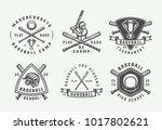 vintage baseball sport logos ... | Shutterstock .eps vector #1017802621