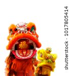 Lion Dance With Isolated...