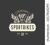 sport motorcycle logo template... | Shutterstock .eps vector #1017810295
