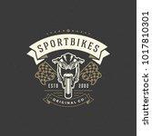 sport motorcycle logo template... | Shutterstock .eps vector #1017810301