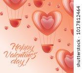 happy valentine day greeting... | Shutterstock .eps vector #1017812464