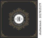 ornament monogram logo design...   Shutterstock .eps vector #1017815179