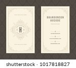 luxury business card and... | Shutterstock .eps vector #1017818827