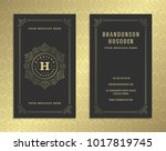 luxury business card and golden ... | Shutterstock .eps vector #1017819745