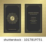 luxury business card and golden ... | Shutterstock .eps vector #1017819751